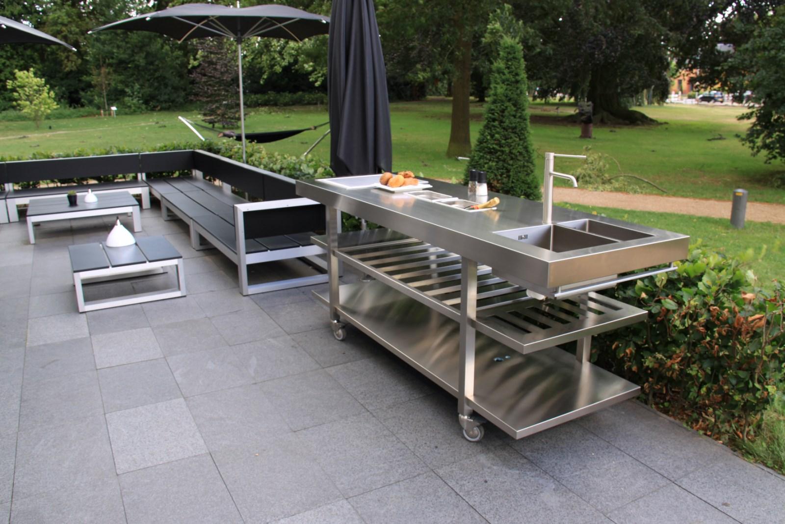 Evier Pour Cuisine D Été cuisine d'été avec plan de travail en inox - so inox